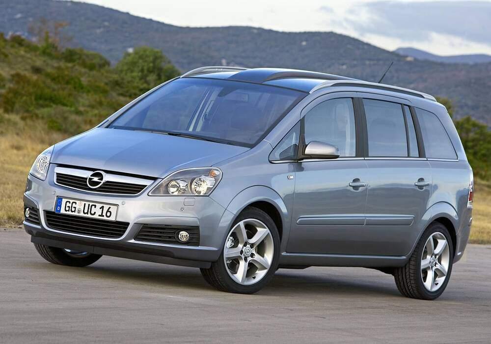 Fiche technique Opel Zafira II 1.8 16v 140 (2005-2014)
