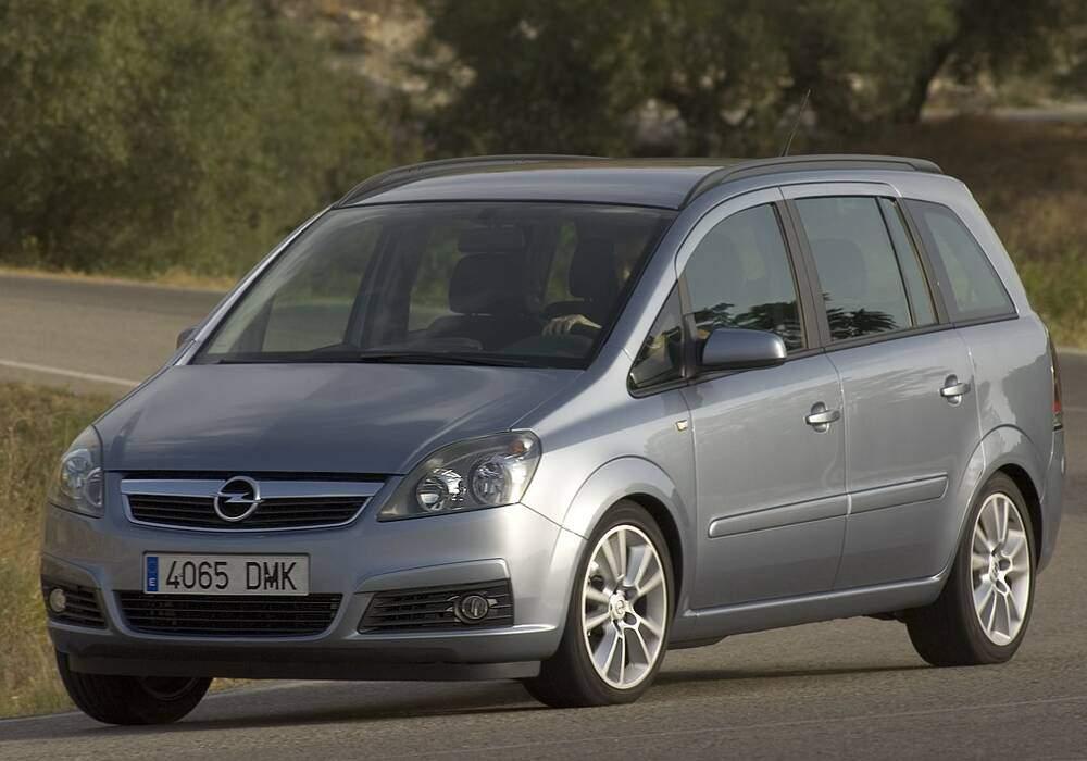 Fiche technique Opel Zafira II 1.9 CDTi 120 (2005-2010)