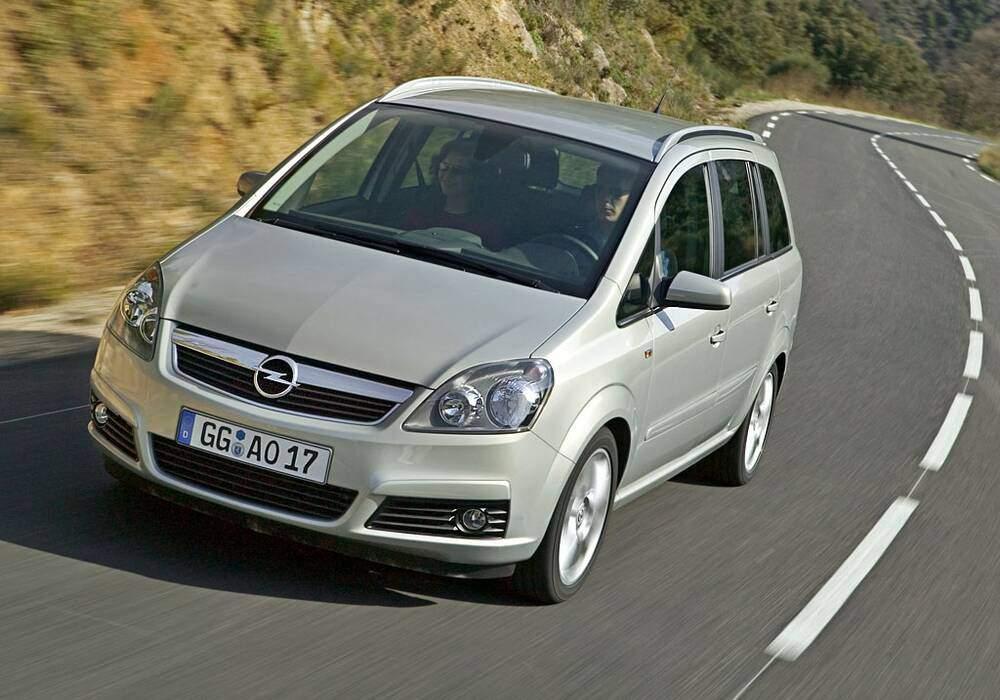 Fiche technique Opel Zafira II 1.9 CDTi 150 (2005-2010)