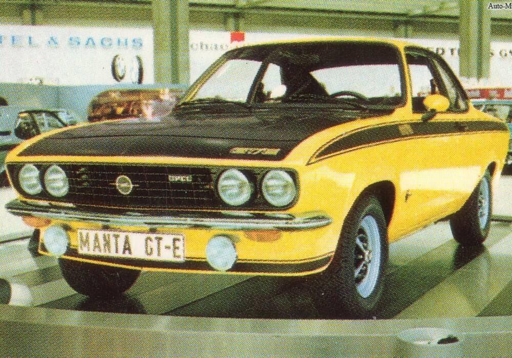 Fiche technique Opel Manta GT/E (A) (1974-1975)