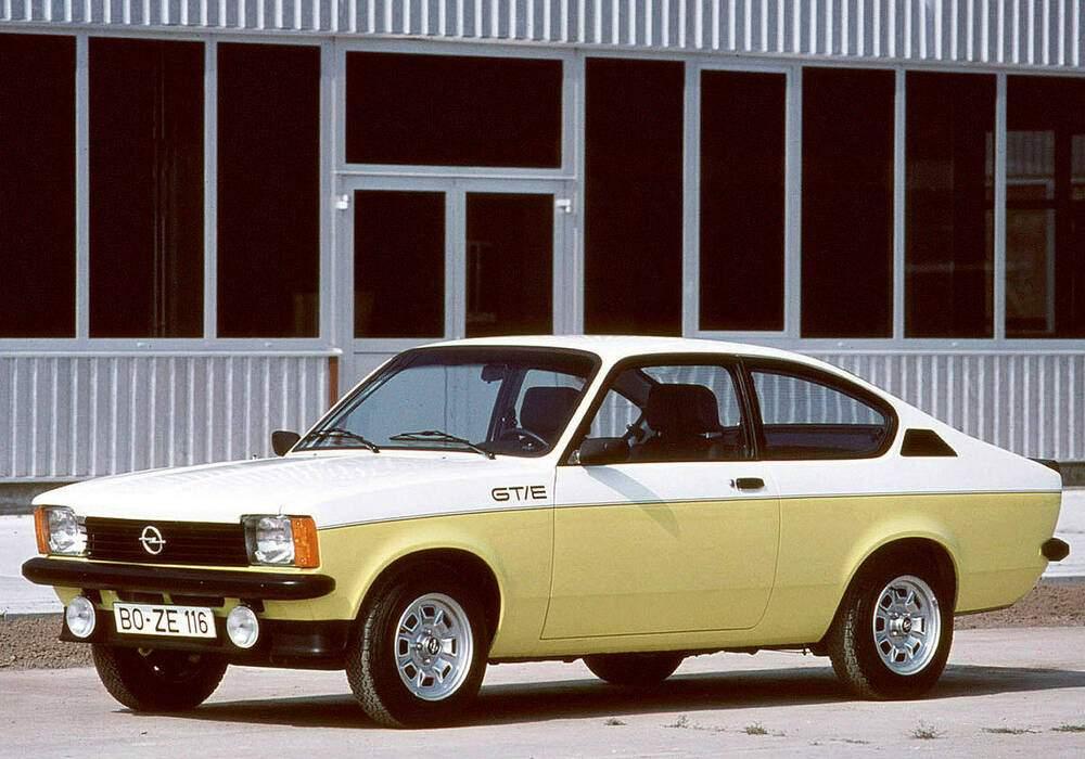 Fiche technique Opel Kadett III Coupé GT/E (1977-1979)