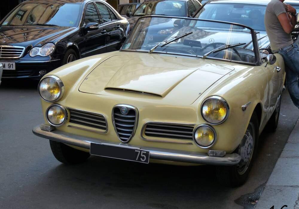 Fiche technique Alfa Romeo 2600 Spider (1961-1965)