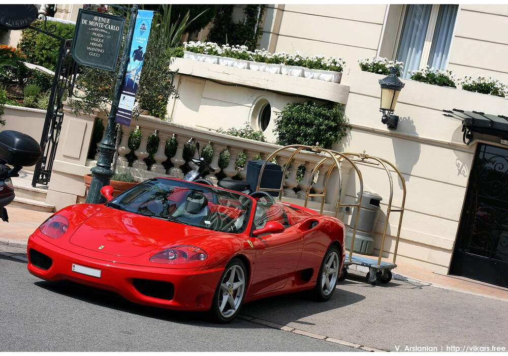 Fiche technique Ferrari 360 Spider (2001-2004)