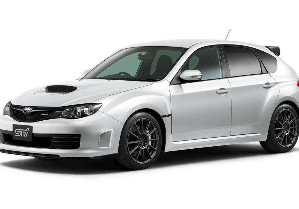 fiche technique subaru impreza iii wrx sti r205 2010. Black Bedroom Furniture Sets. Home Design Ideas