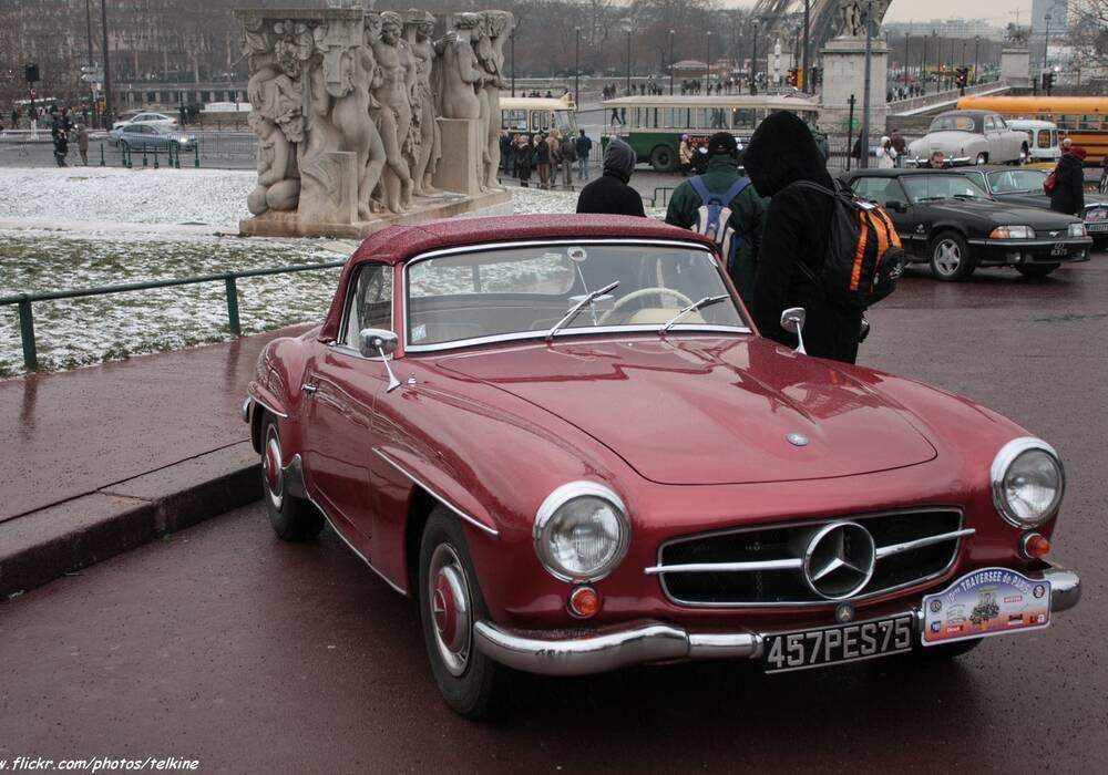 Fiche technique Mercedes-Benz 190 SL (W121 BII) (1954-1963)