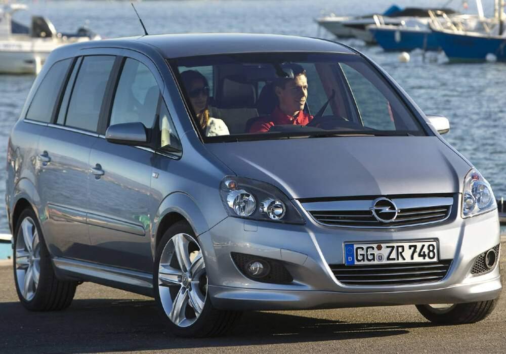 Fiche technique Opel Zafira II 1.7 CDTi 125 (2007-2011)