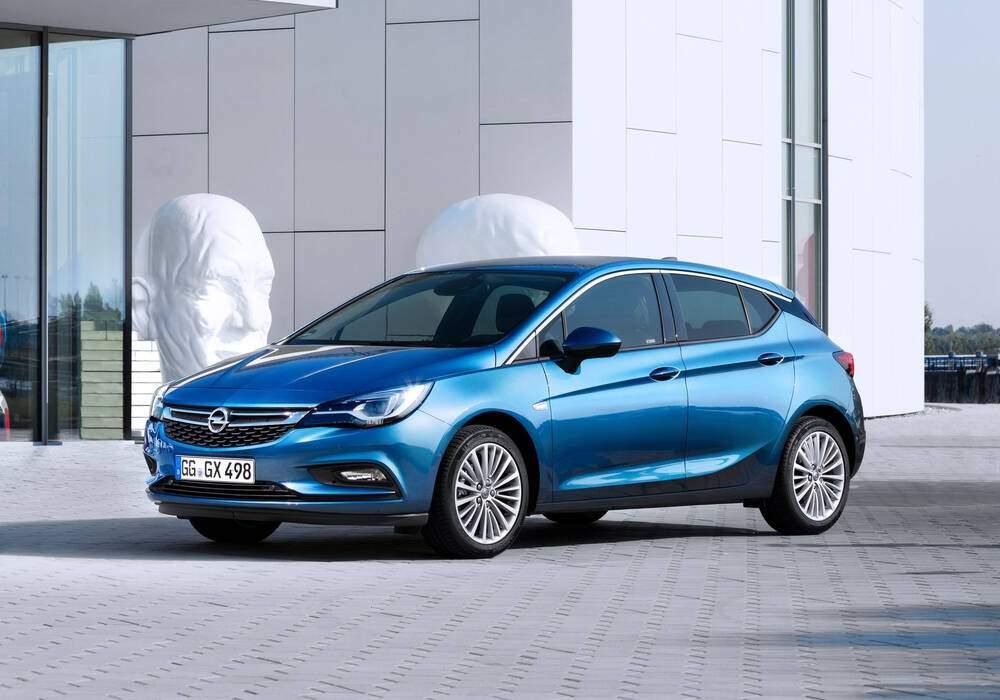 Fiche technique Opel Astra V 1.4 Turbo 125 (K) (2015-2019)