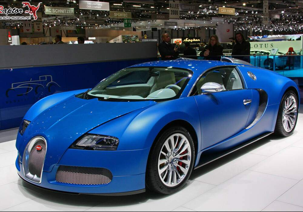 Fiche technique Bugatti EB 16.4 Veyron « Bleu Centenaire » (2009)