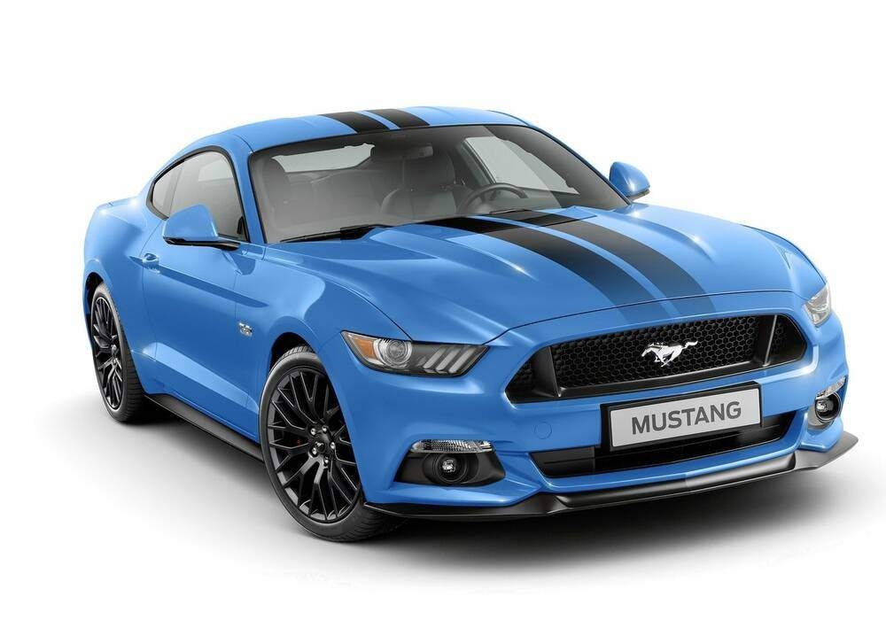 fiche technique ford mustang vi gt blue edition 2016. Black Bedroom Furniture Sets. Home Design Ideas