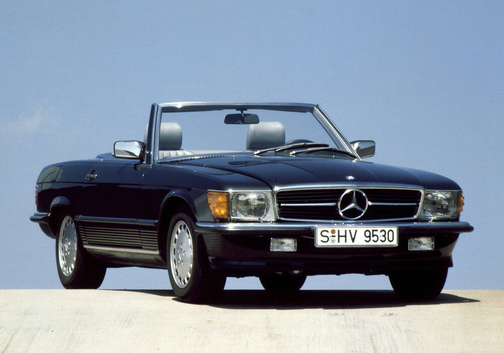 Fiche technique Mercedes-Benz 500 SL (R107) (1984-1988)