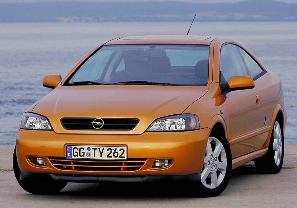 Fiche technique Opel Astra II Coupé 1.8 16v 125 (2000-2005)