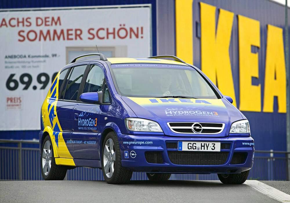 Fiche technique Opel Zafira HydroGen 3 Prototype (2003)