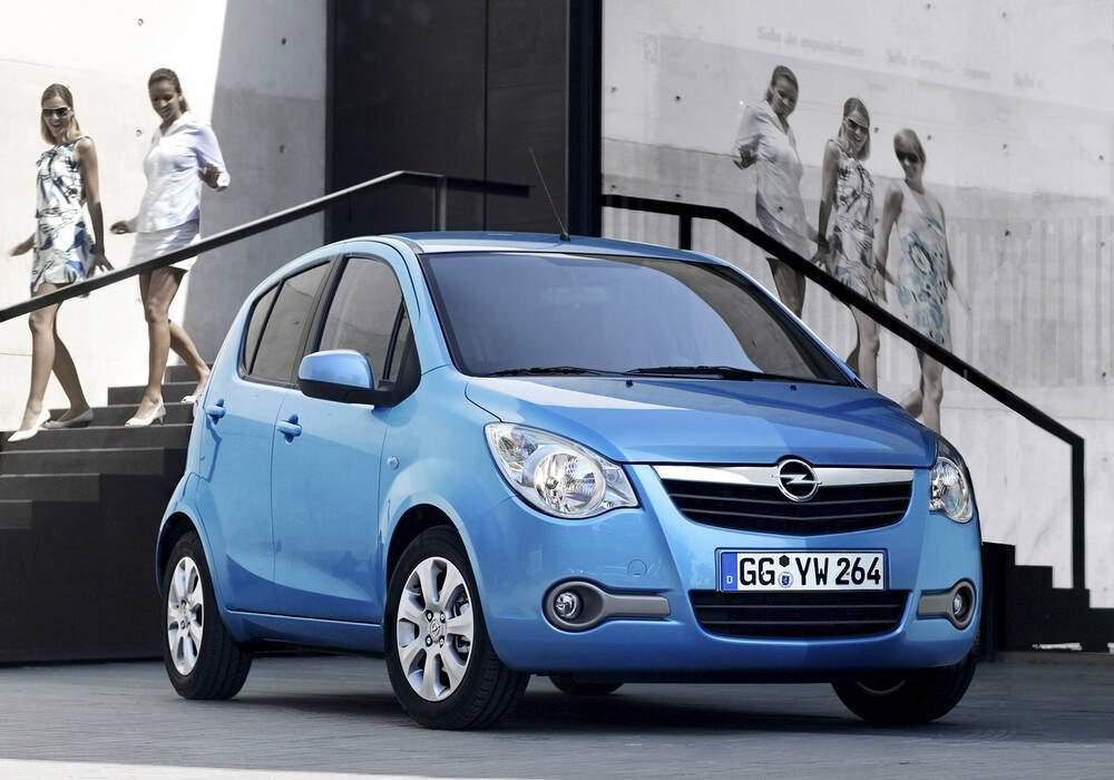 Fiche technique Opel Agila II 1.2 (2007-2010)