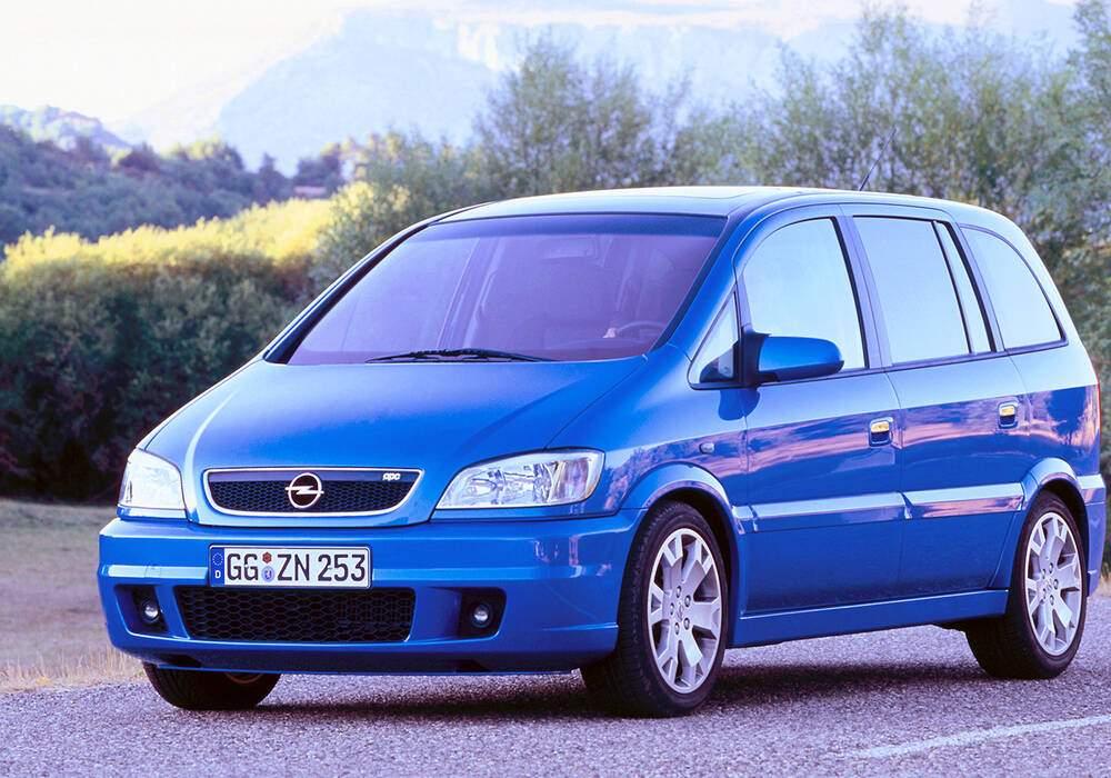 Fiche technique Opel Zafira OPC (A) (2001-2003)