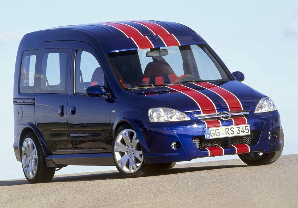 Fiche technique Opel Combo Eau Rouge Concept (2002)