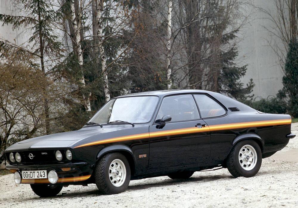 Fiche technique Opel Manta GT/E (A) « Black Magic » (1975)