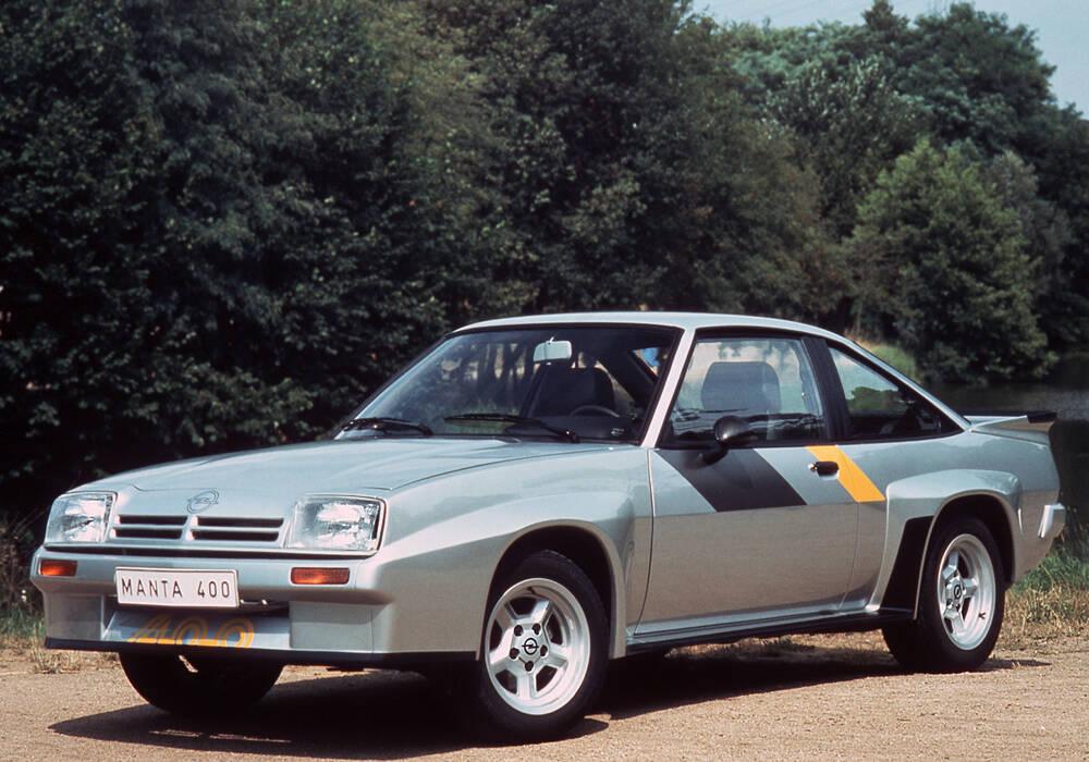 Fiche technique Opel Manta II 400 (1981-1984)