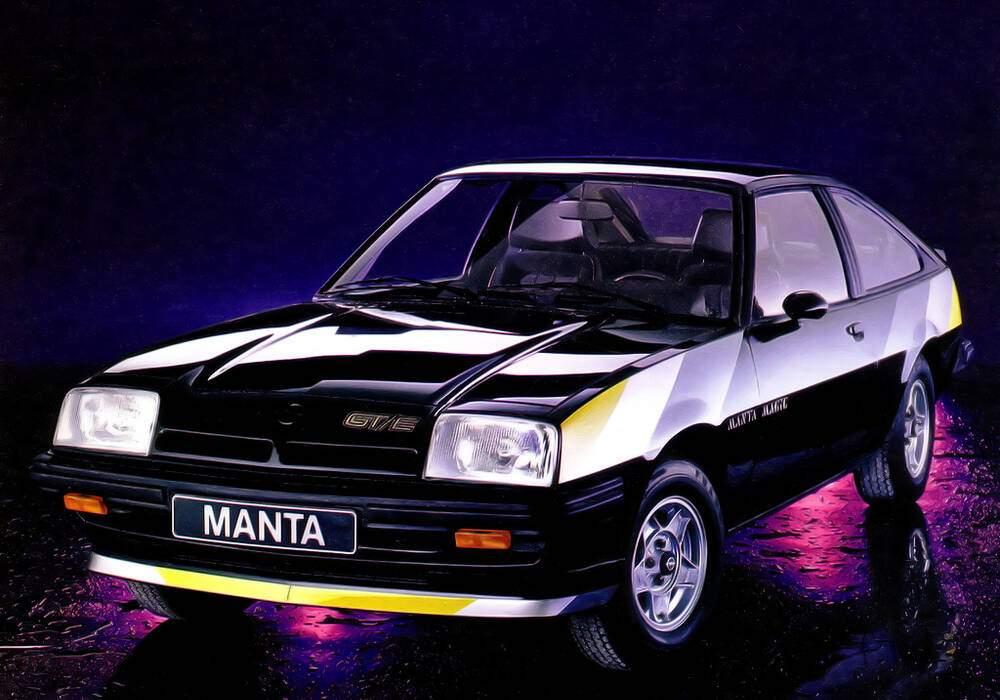 Fiche technique Opel Manta II CC GT/E (B) « Manta Magic » (1981)