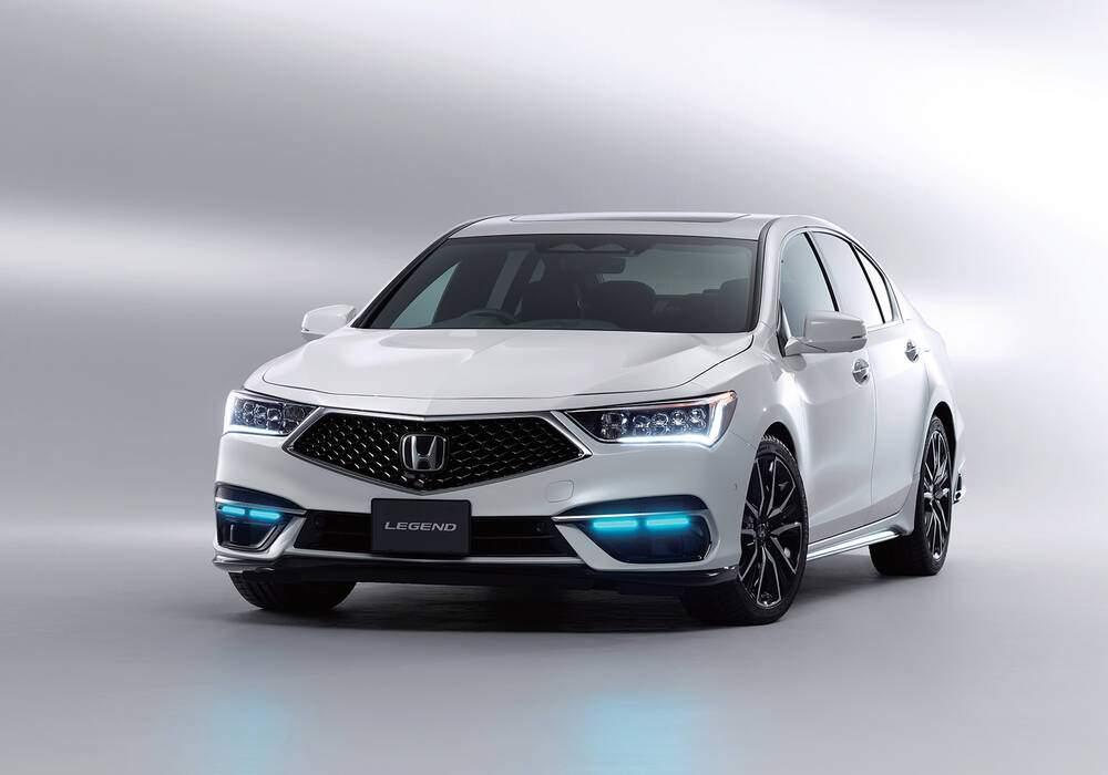 Fiche technique Honda Legend V Hybrid (KC2) « Honda Sensing Elite » (2021)