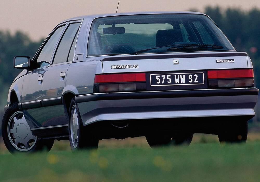 Fiche technique Renault 25 2.1 TD « Courchevel » (1991)