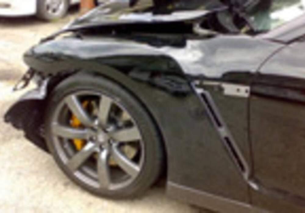 Une GT-R crashée en Malaisie