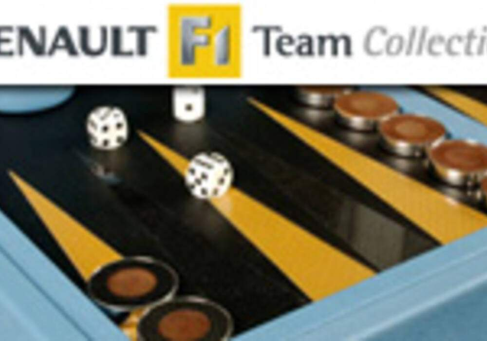 L'incroyable table de backgammon - Renault F1 Team