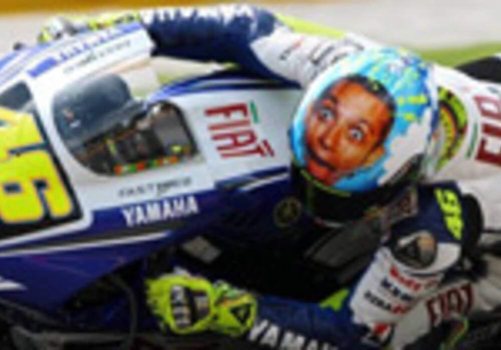 Valentino Rossi chez Yamaha jusqu'en 2010