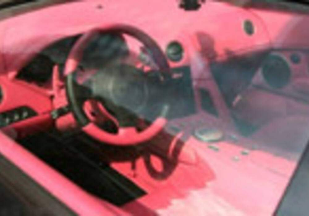 Une Lamborghini à l'intérieur rose