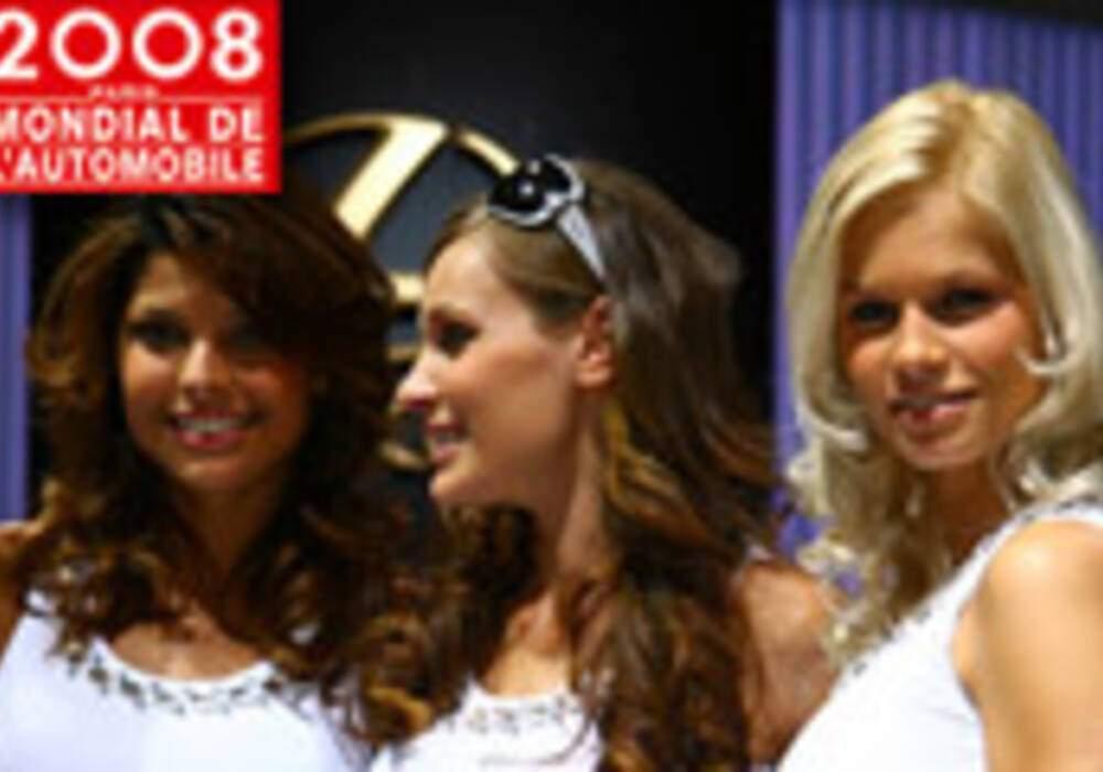 Les hôtesses du Mondial de l'Auto de Paris 2008