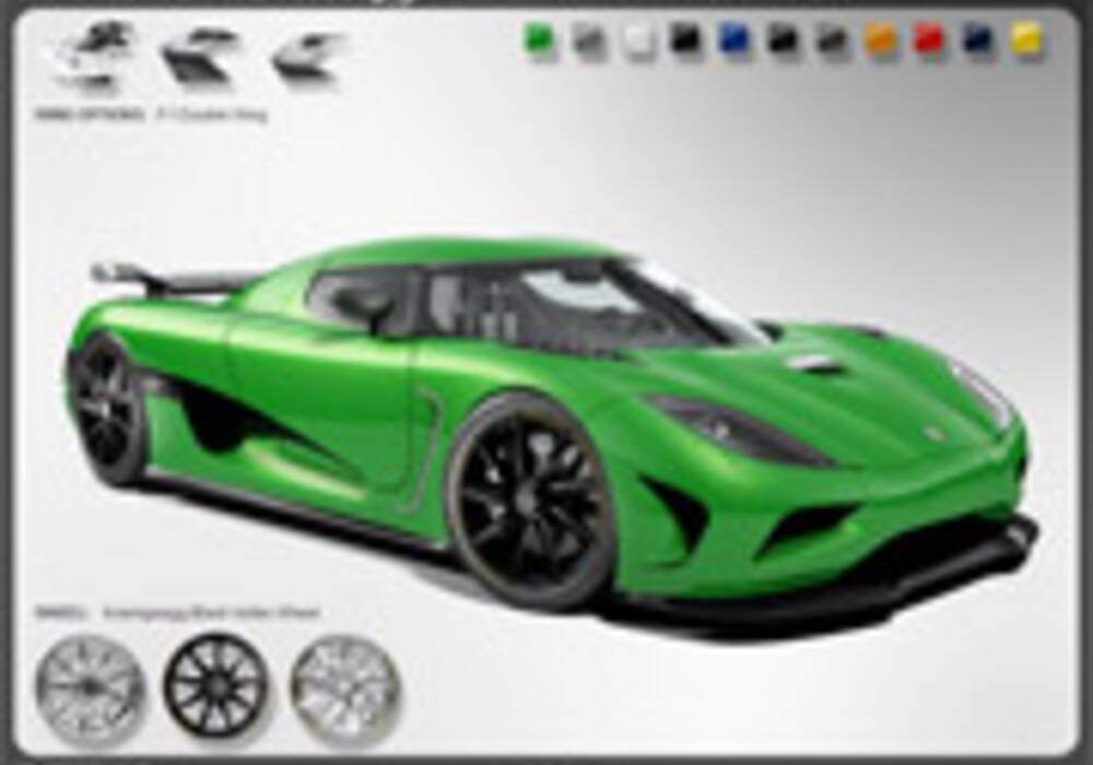 Koenigsegg Agera : Le configurateur en ligne