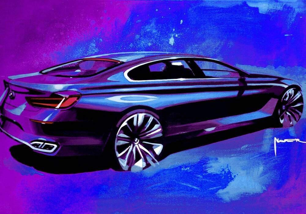 BMW Gran Coupé Concept, photos de la phase de création