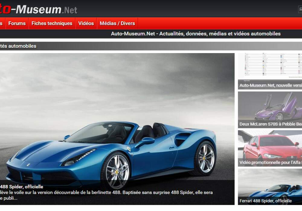 Auto-Museum.Net, nouvelle version