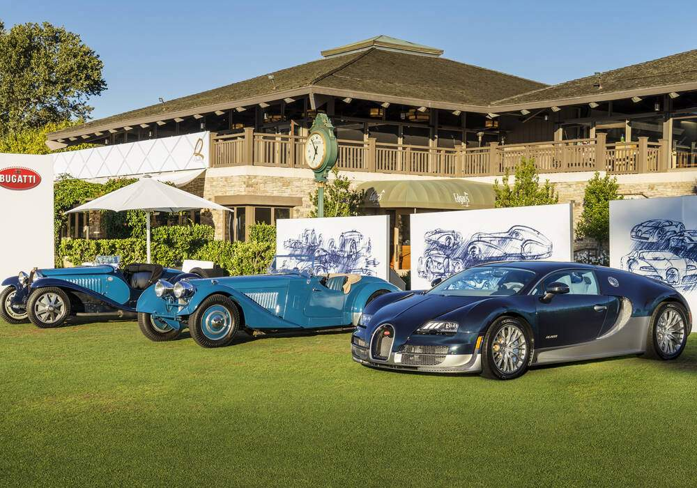 Les supersportives Bugatti à Pebble Beach