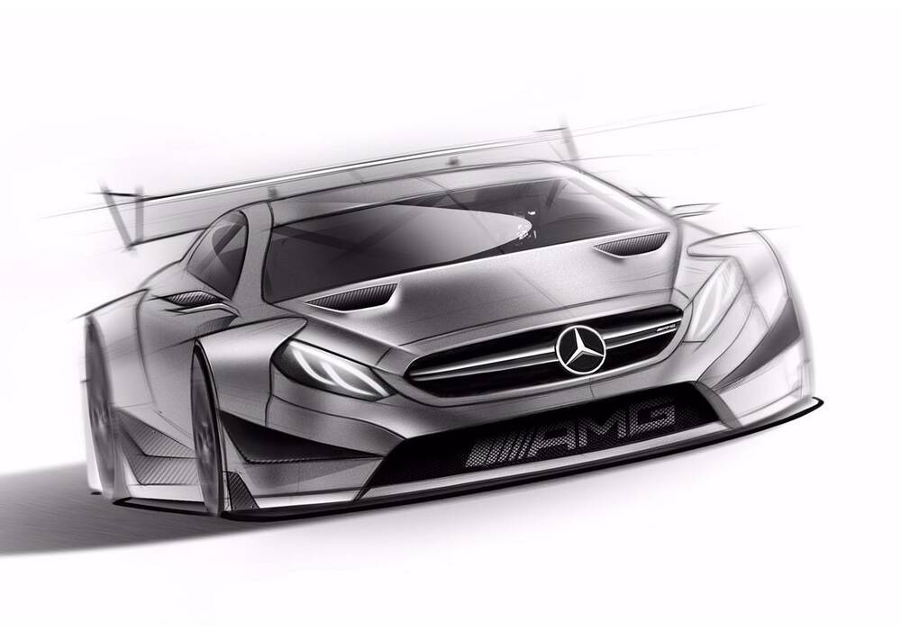 Mercedes-AMG C63 Coupé DTM, premiers dessins