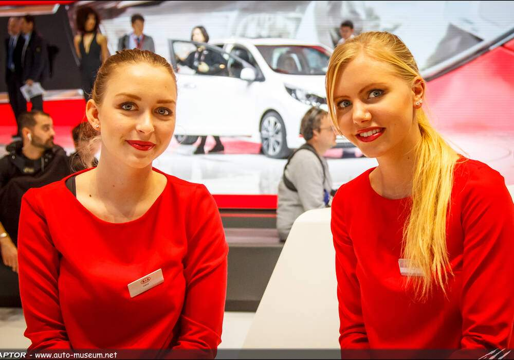 Les hôtesses du Salon de Genève 2017