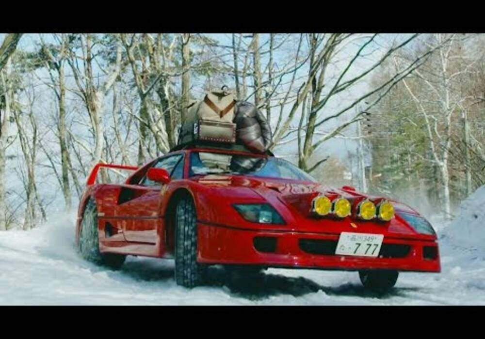 Camping hivernal en Ferrari F40