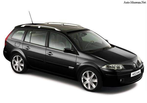 fiche technique renault megane ii estate 2 0 dci 150 2006. Black Bedroom Furniture Sets. Home Design Ideas