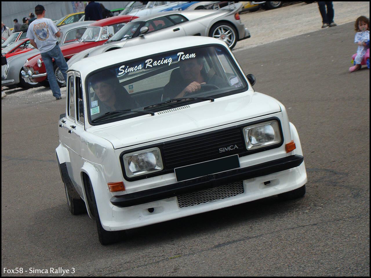 Fiche Technique Simca 1000 Rallye 3 1977 1978