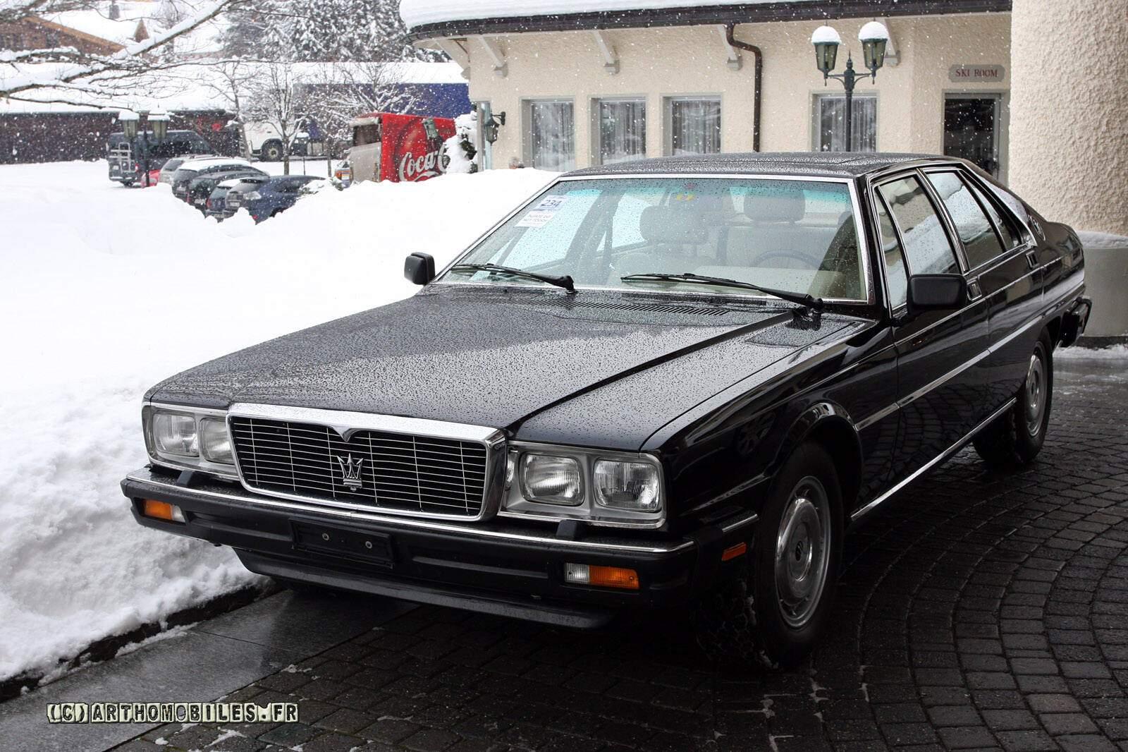 fiche technique maserati quattroporte iii royale  1987