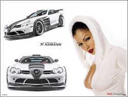 Mercedes SLR Volcano Hamann & Sexy Girl, ajouté; par MissMP