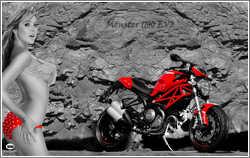 Ducati Monster 1100 Evo & Emily Scott  - Sexy Girl, ajouté; par MissMP